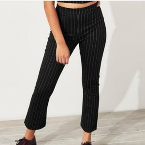 Nwt Hollister Black Striped Flared Pants Large